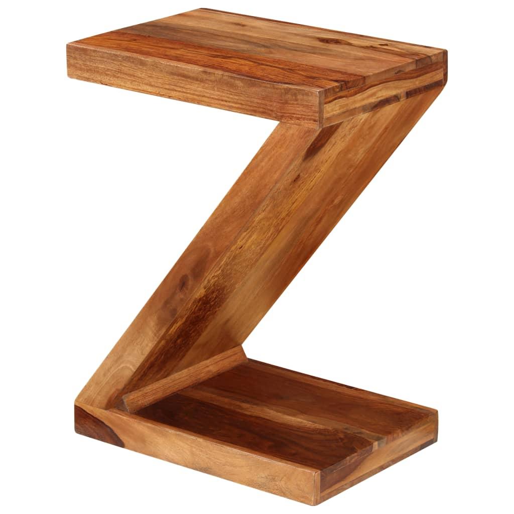 Vidaxl sheesham solid wood z shaped side table