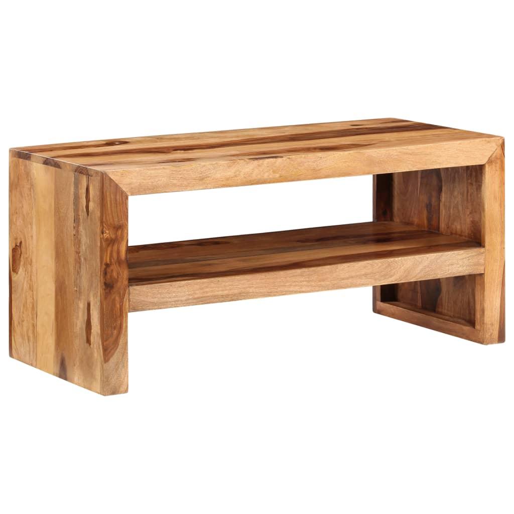 Acheter table d 39 appoint pour tv en bois de sheesham solide for Table pour tv