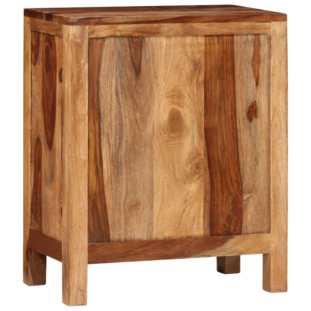 la boutique en ligne table de chevet en bois de sheesham solide avec 2 tiroirs. Black Bedroom Furniture Sets. Home Design Ideas