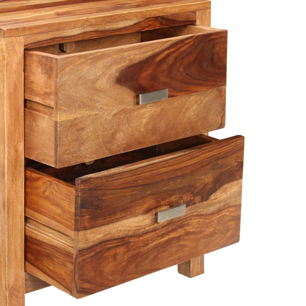 Sheesham solid wood bedside cabinet with drawers