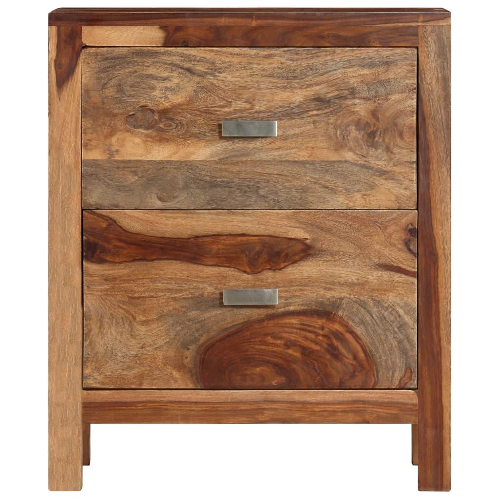 acheter table de chevet en bois de sheesham solide avec 2. Black Bedroom Furniture Sets. Home Design Ideas