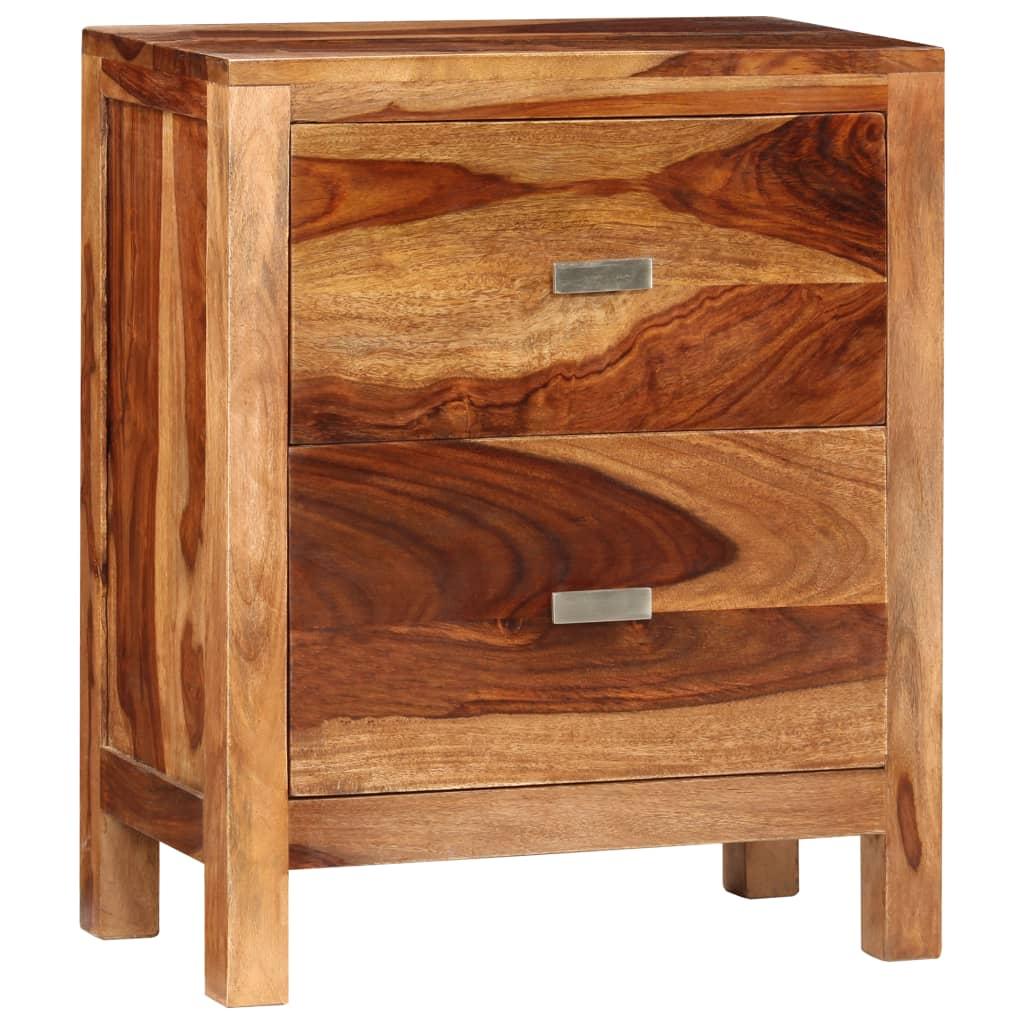 vidaXL Szafka nocna z 2 szufladami, drewno sheesham