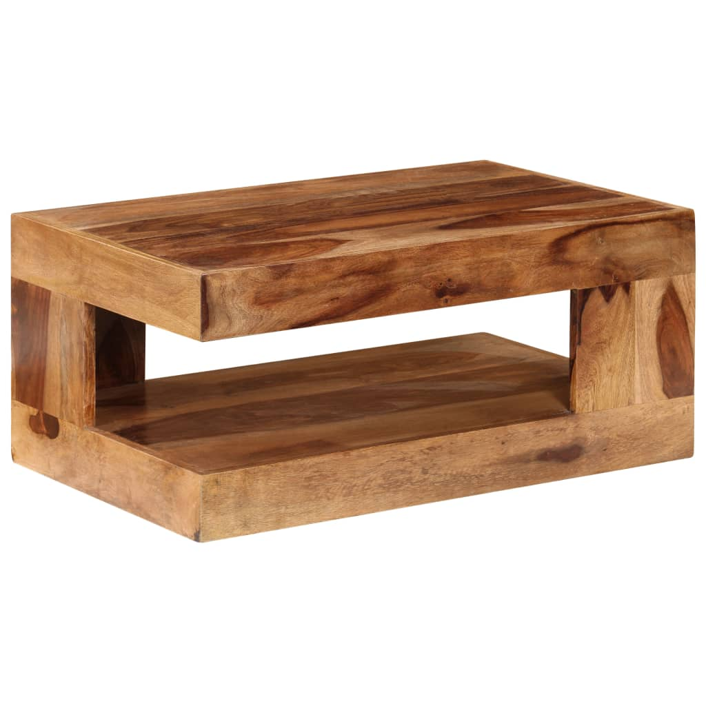Sheesham solid wood coffee table vidaxlcom for Solid wood table