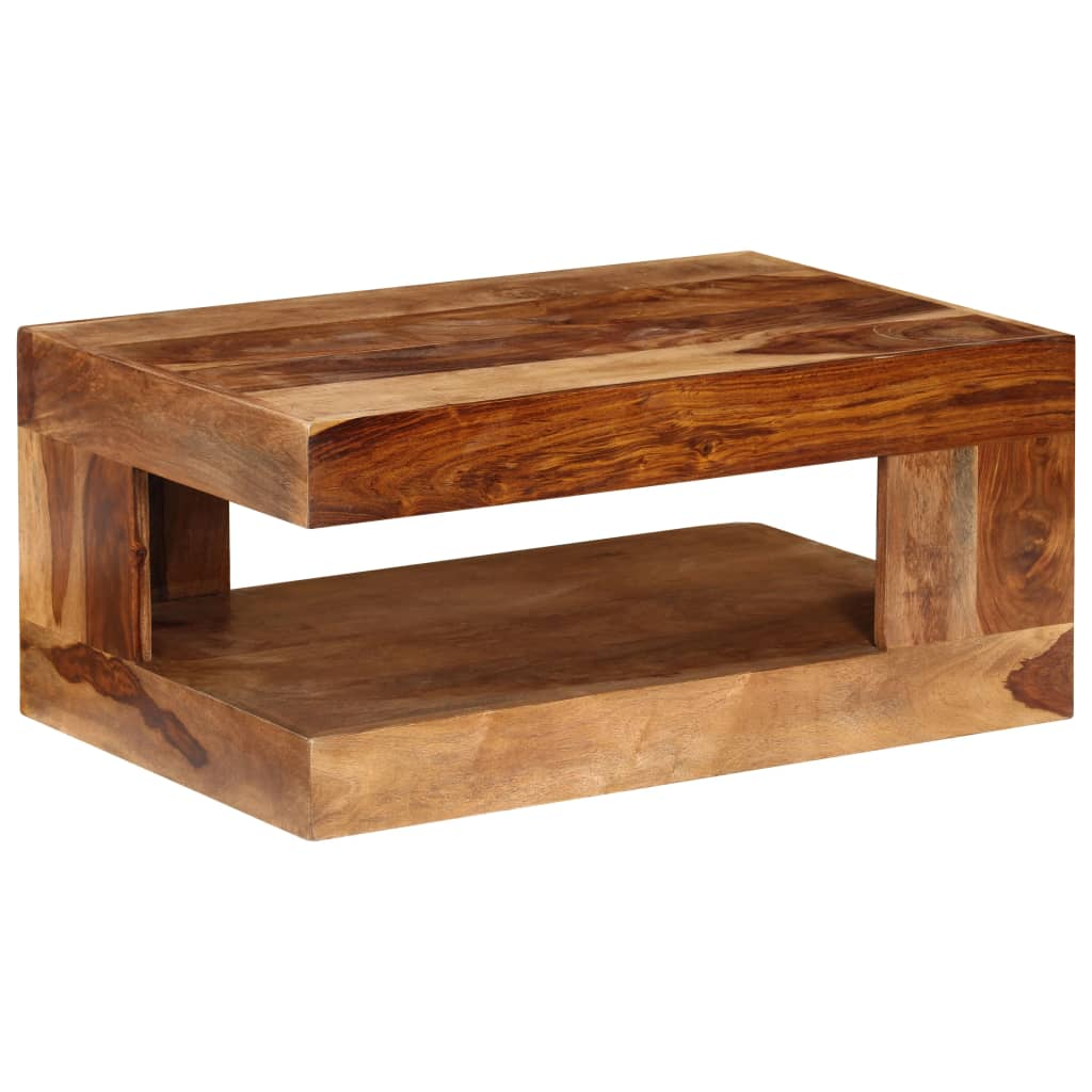 Sheesham solid wood coffee table for Solid wood coffee table