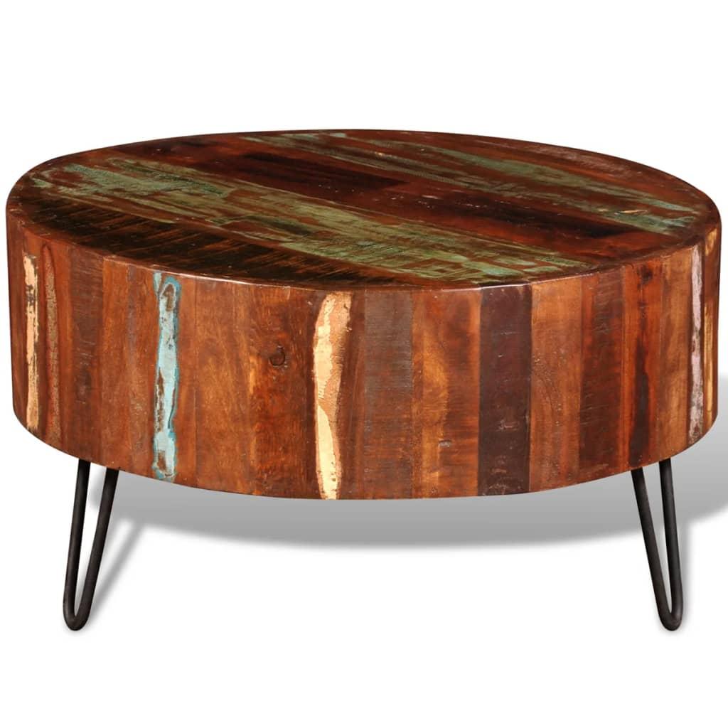 Articoli per Tavolino da Caffè in Legno Anticato Massello Rotondo  vidaXL.it