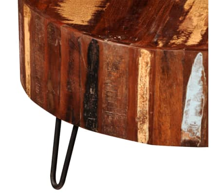 table basse ronde en bois solide recycl. Black Bedroom Furniture Sets. Home Design Ideas