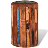 Zylinderförmiger Schemel aus wiederverwendetem Holz