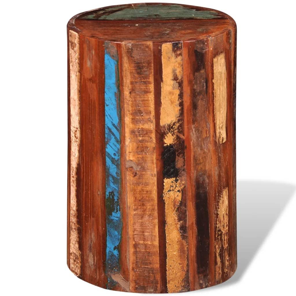 vidaXL Antikolt hatású tömör fa henger-alakú ülőke