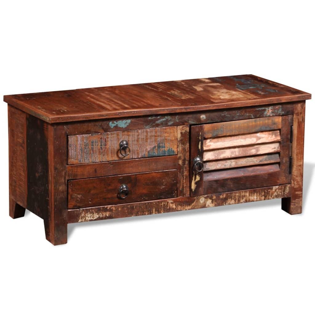 vidaXL Reclaimed TV HiFi Cabinet Side Cabinet Solid Wood  vidaXLcom -> Tv Hifi Sideboard