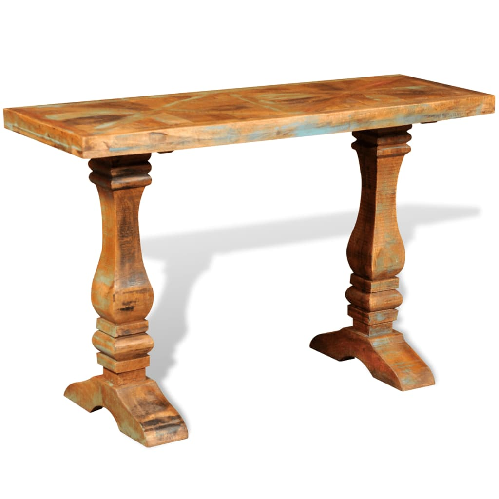 Reclaimed solid wood console table vidaxl
