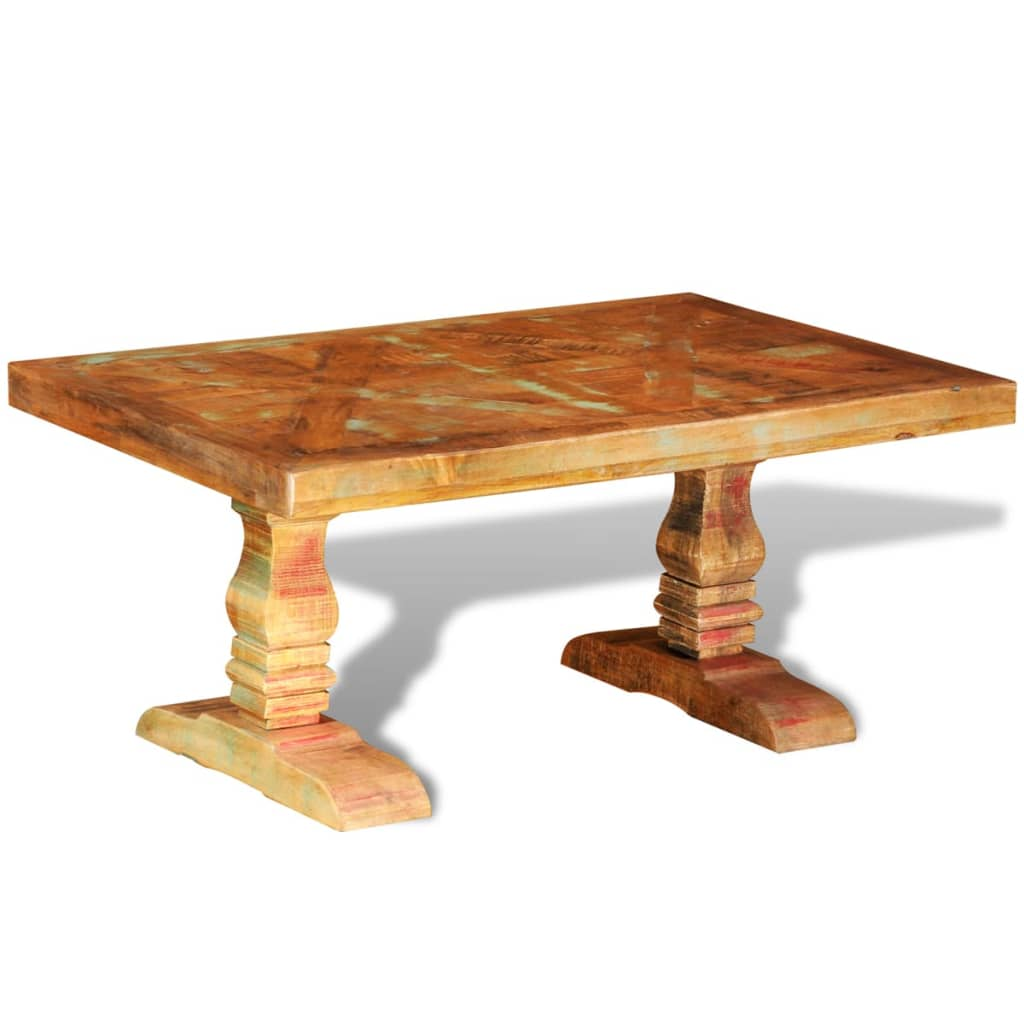 Reclaimed Solid Wood Coffee Table Antique-style