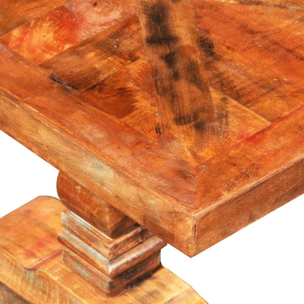 Reclaimed Solid Wood Coffee Table Antique Style