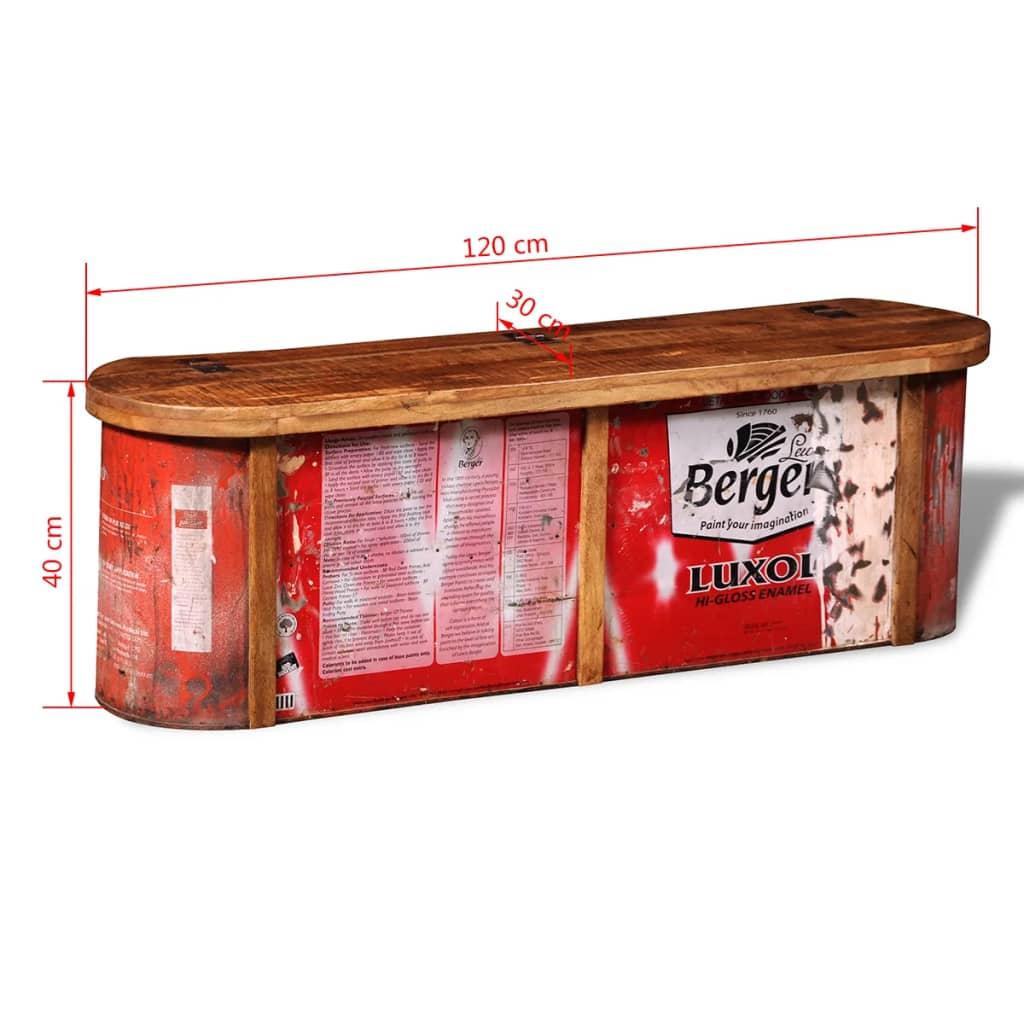 reclaimed solid wood sideboard storage bench. Black Bedroom Furniture Sets. Home Design Ideas