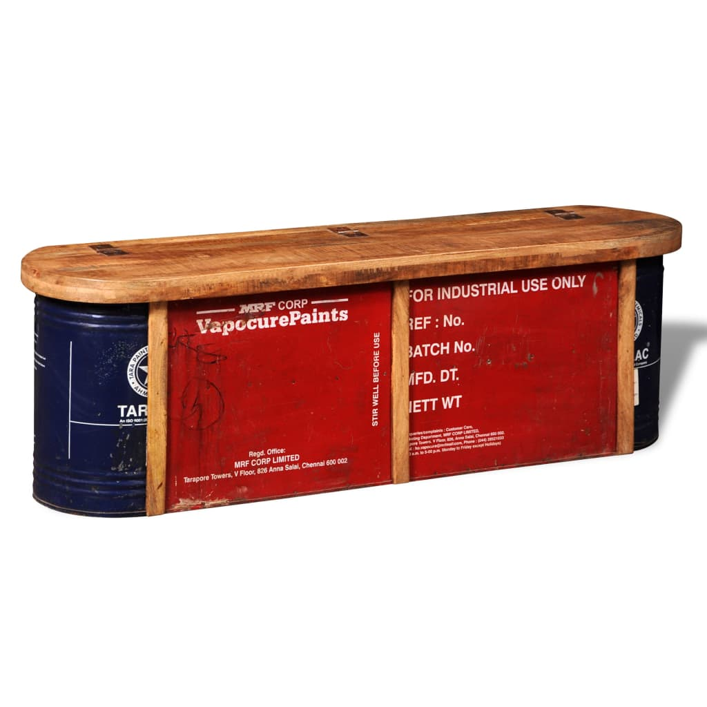 Banco aparador sólido de madeira com armazenamento www.vidaxl.pt #B11813 1024x1024
