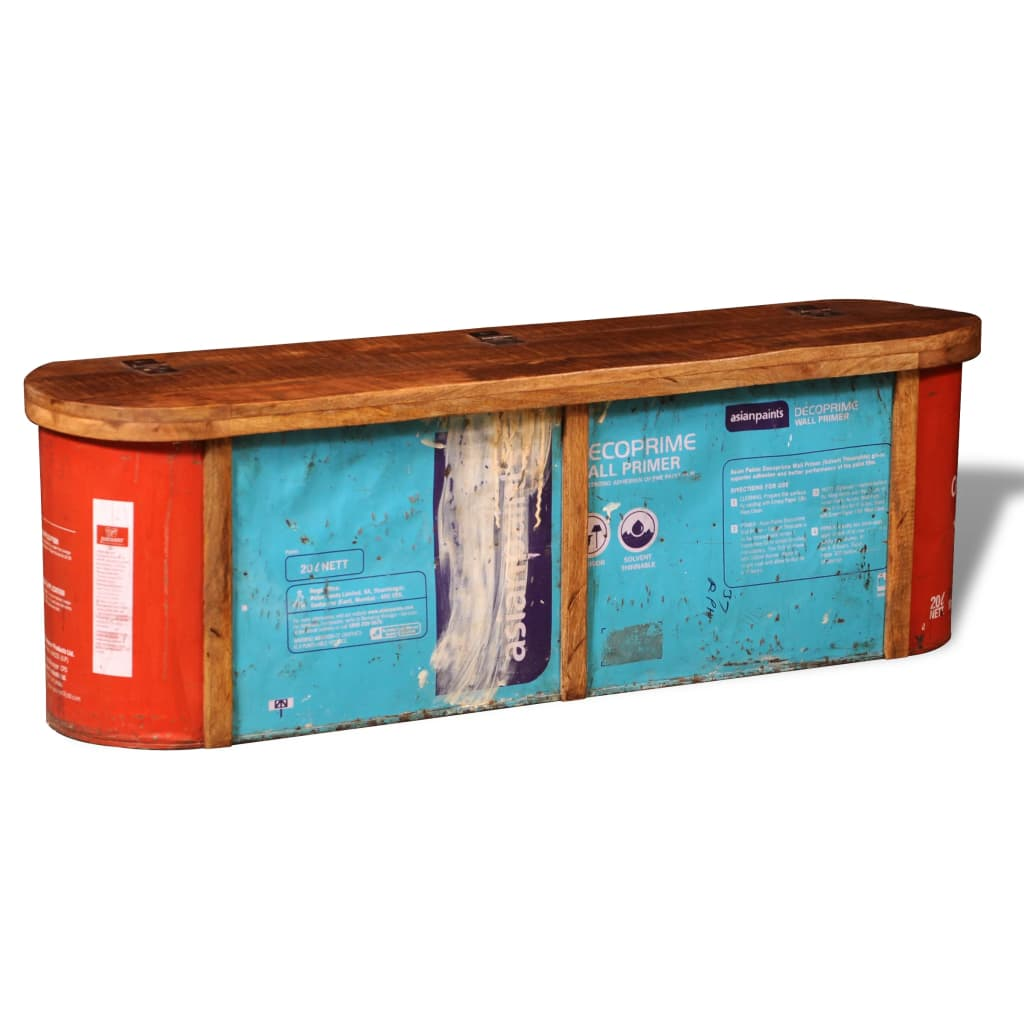 Reclaimed solid wood sideboard storage bench for Sideboard 120