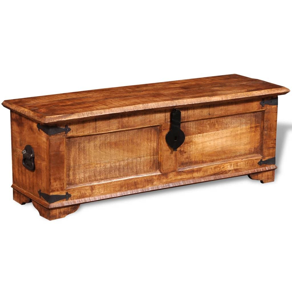 Caixa de armazenamento em madeira grosseira de manga www.vidaxl.pt #B75D14 1024x1024