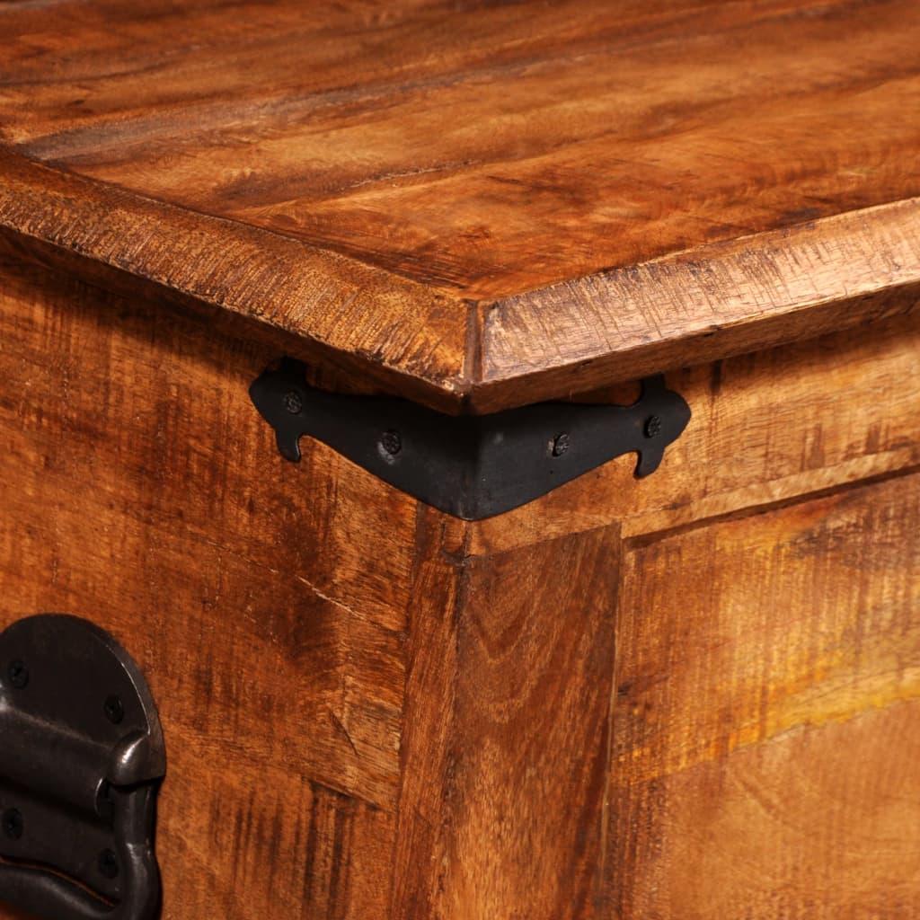 Caixa de armazenamento em madeira grosseira de manga www.vidaxl.pt #C96F02 1024x1024