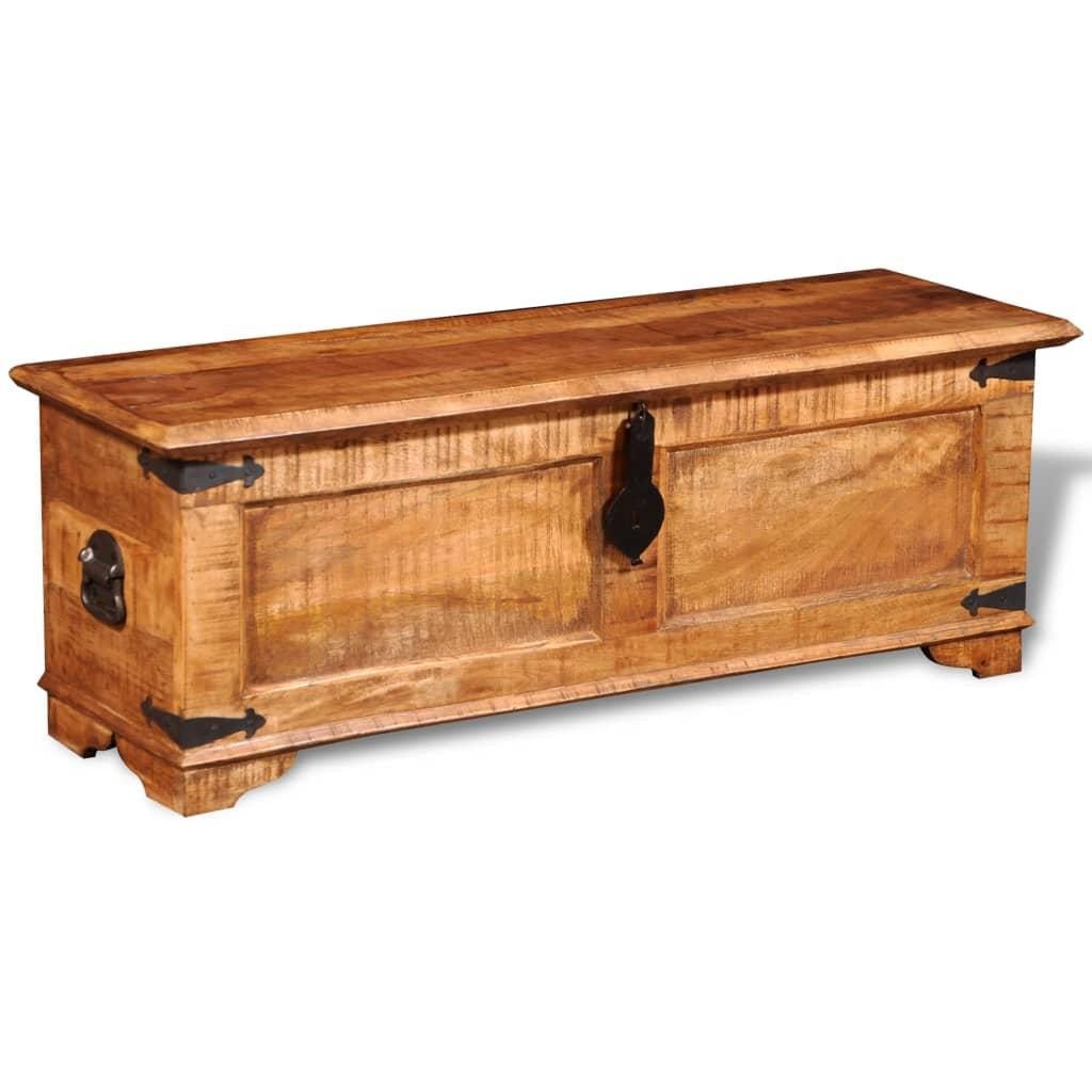 la boutique en ligne coffre de stockage en bois brut de manguier. Black Bedroom Furniture Sets. Home Design Ideas