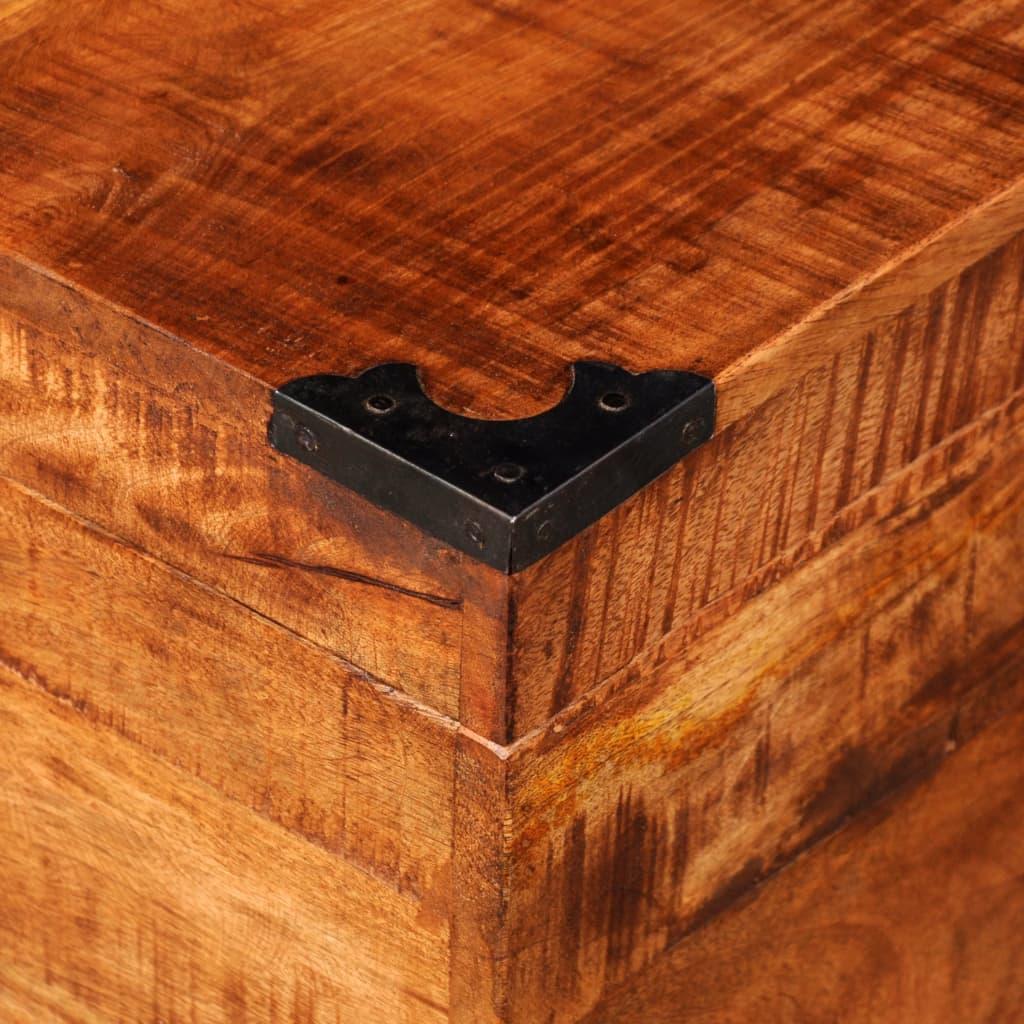acheter coffre carr en bois brut de manguier pas cher. Black Bedroom Furniture Sets. Home Design Ideas