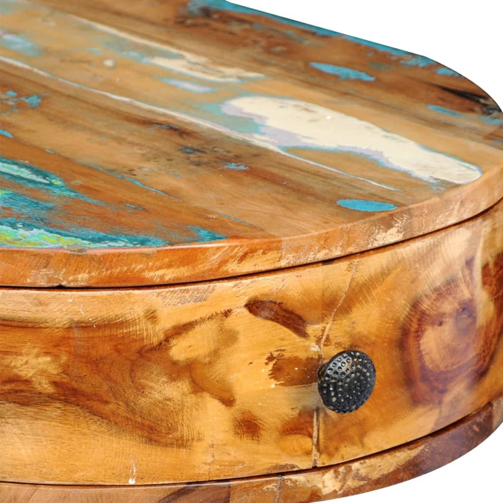Escritorio de madera maciza reciclada con patas delgadas - Escritorios madera maciza ...