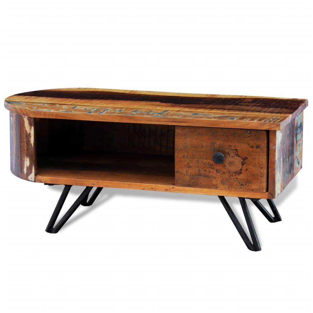 la boutique en ligne table basse en bois recycl solide. Black Bedroom Furniture Sets. Home Design Ideas