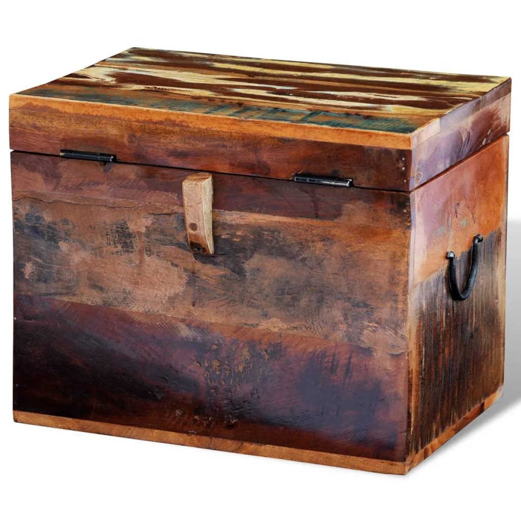 Caixa de armazenamento madeira sólida recuperada www.vidaxl.pt #AF4E1C 1024x1024