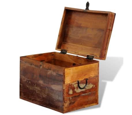 wood storage box. reclaimed solid wood storage box