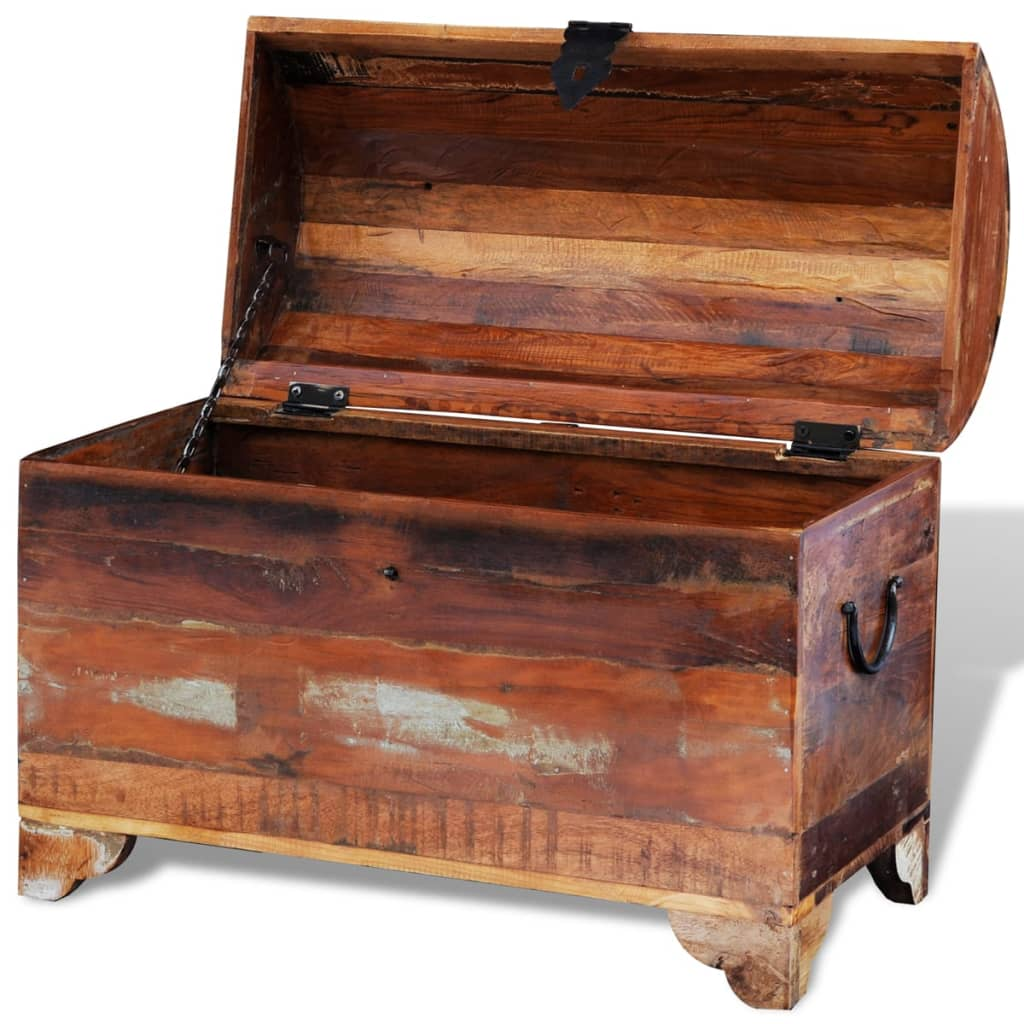 Reclaimed solid wood storage chest vidaxl