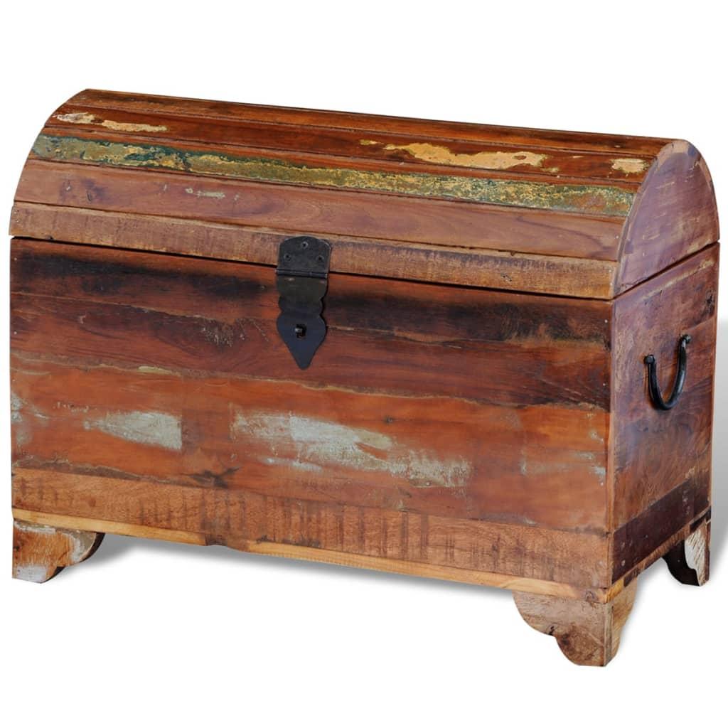 Kista för förvaring tillverkad av återvunnet trä