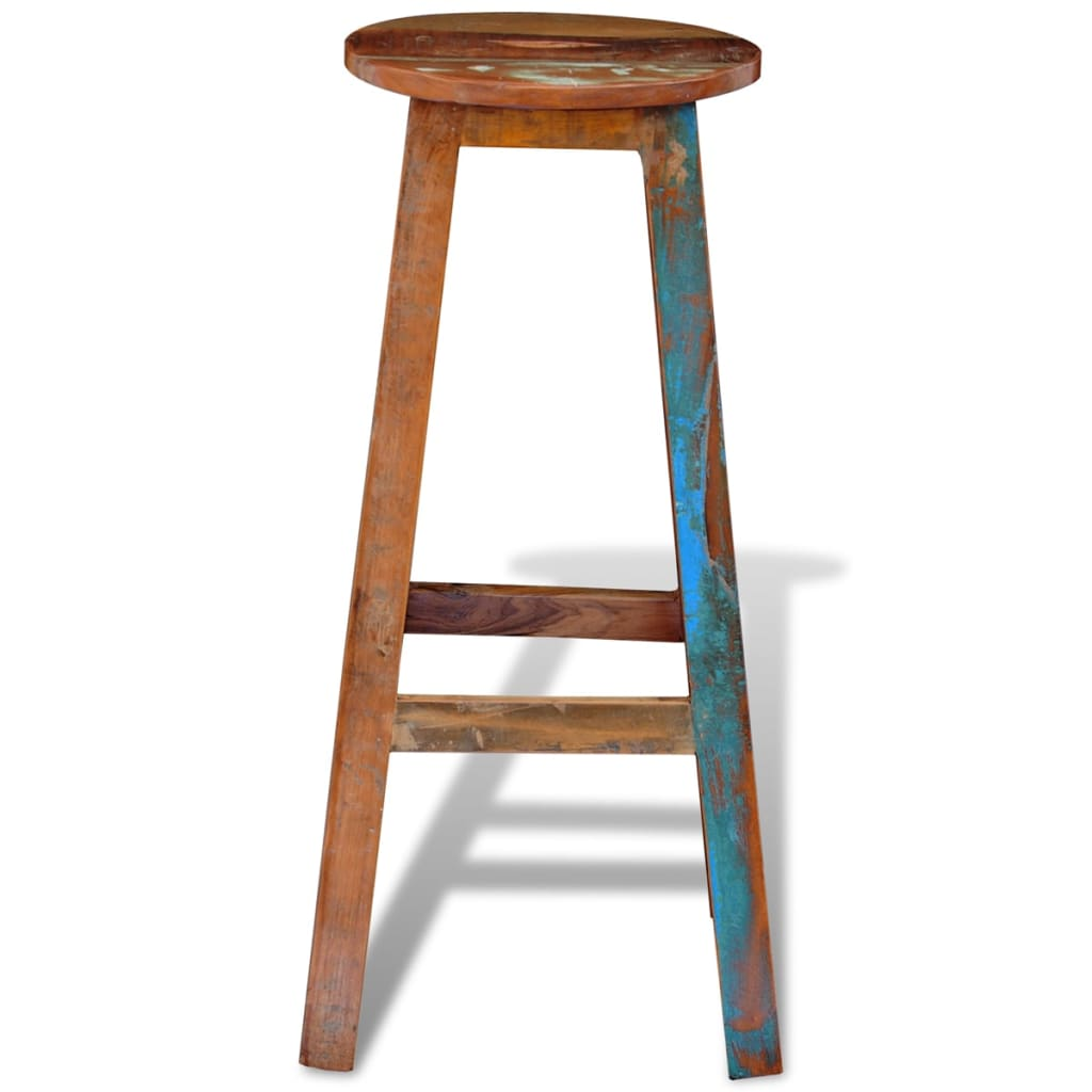 reclaimed solid wood high bar stool vidaxl