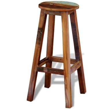 Visok barski stol iz predelanega masivnega lesa[3/8]