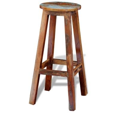 Visok barski stol iz predelanega masivnega lesa[4/8]