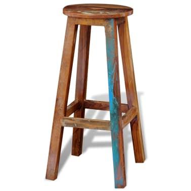 Visok barski stol iz predelanega masivnega lesa[5/8]