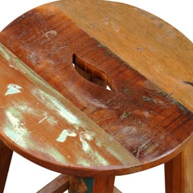 Visok barski stol iz predelanega masivnega lesa[7/8]