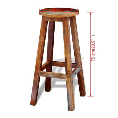 Visok barski stol iz predelanega masivnega lesa[8/8]