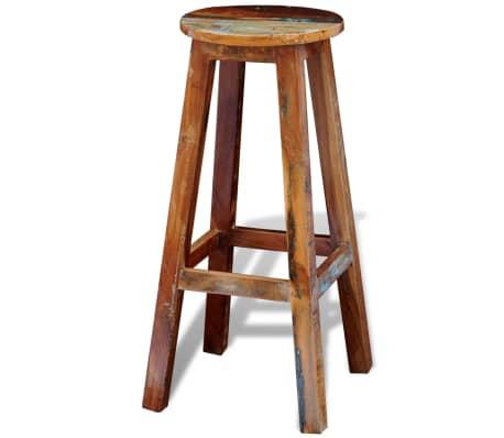 Visok barski stol iz predelanega masivnega lesa