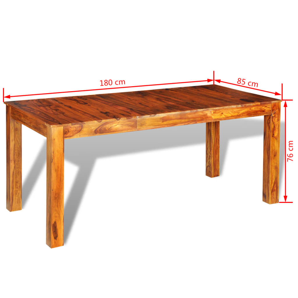 Sheesham solid wood dinning table 180 x 85 for Table largeur 85 cm
