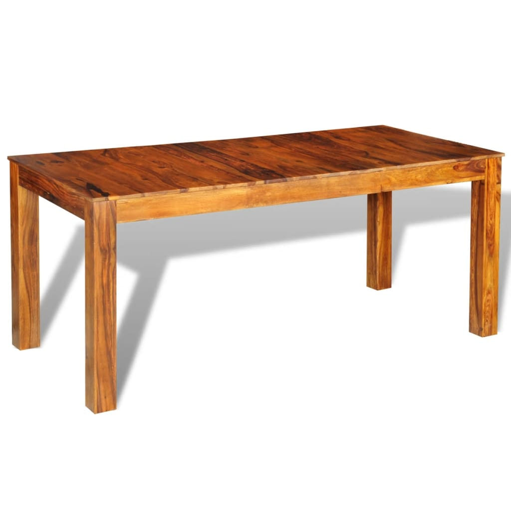 Sheesham solid wood dining table 180 x 85 x 76 cm vidaxl for Table 180 x 85