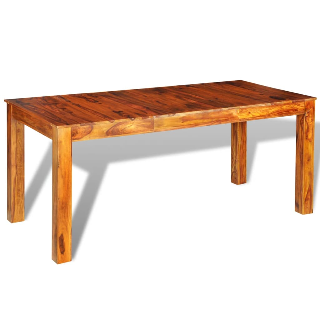 sheesham solid wood dinning table 180 x 85