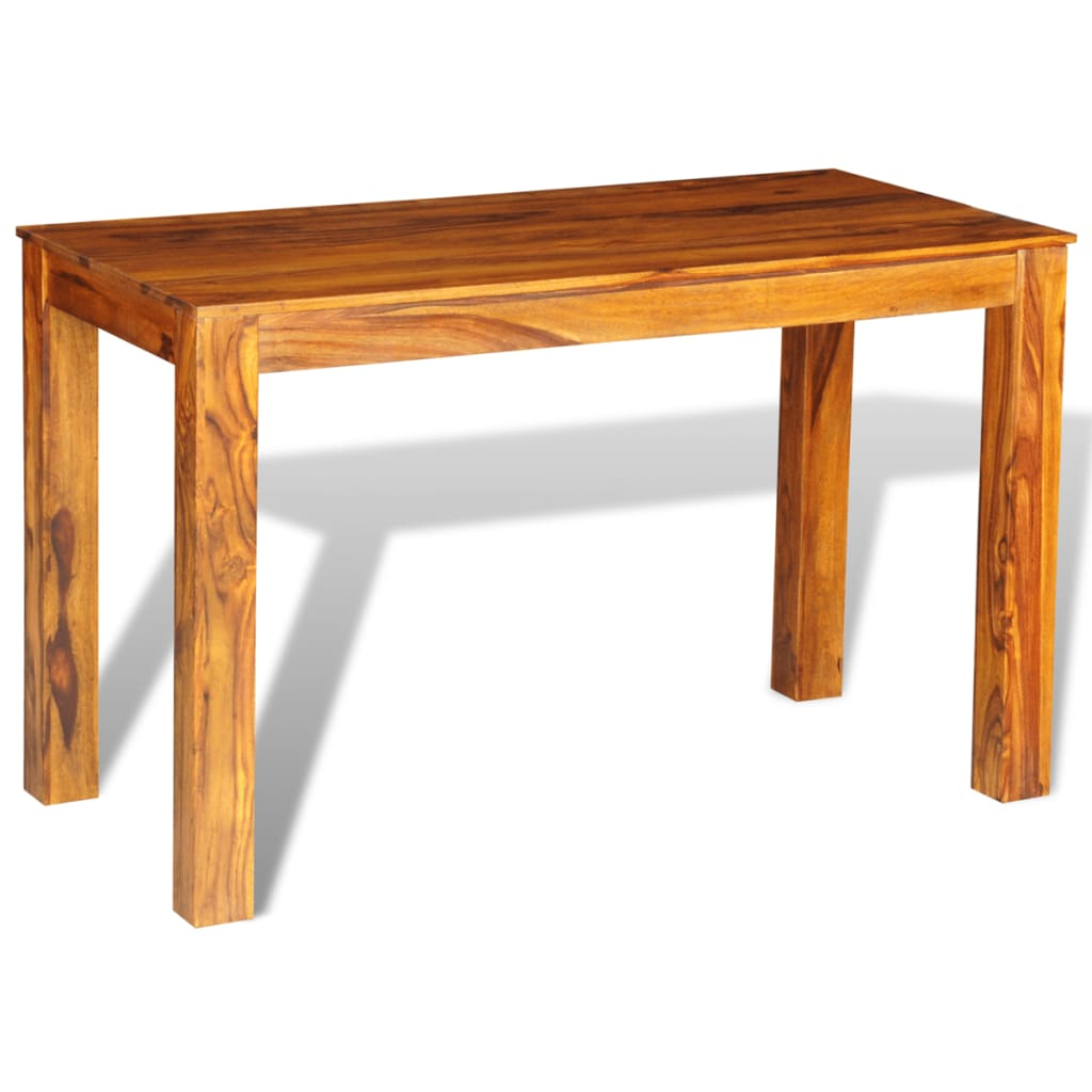 Sheesham solid wood dining table 120 x 60 x for Table carree 120 cm