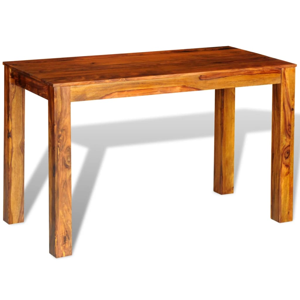 Sheesham solid wood dining table 120 x 60 x 76 cm for Table carree 120 cm