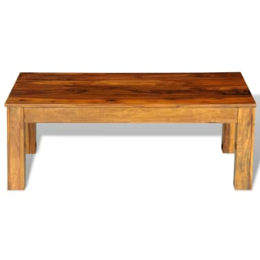 Sheesham solid wood coffee table 110 x 60 x - Table largeur 60 cm ...