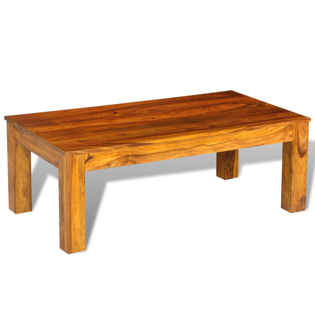 Sheesham solid wood coffee table 110 x 60 x for Solid wood coffee table