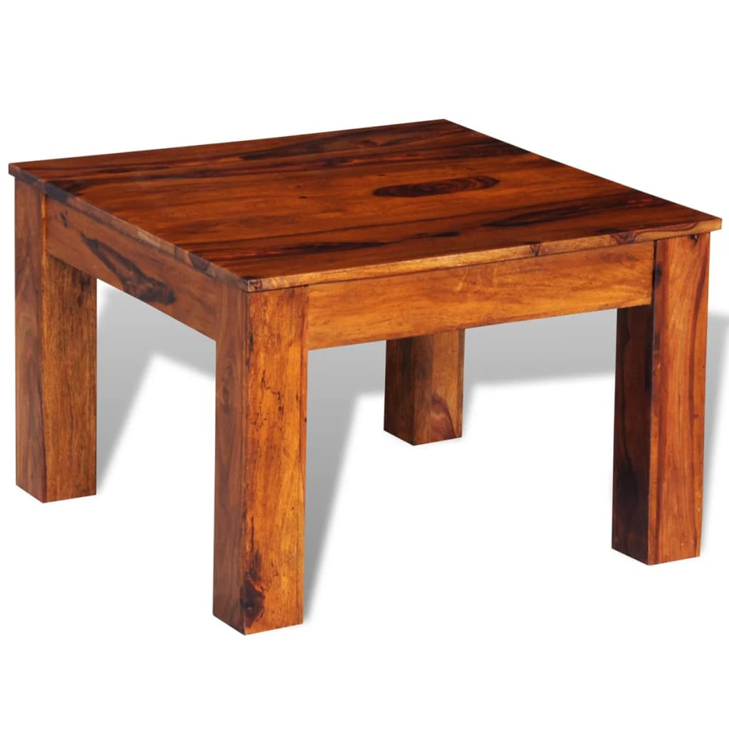 Sheesham Solid Wood Coffee Table 60 X 60 X 40 Cm