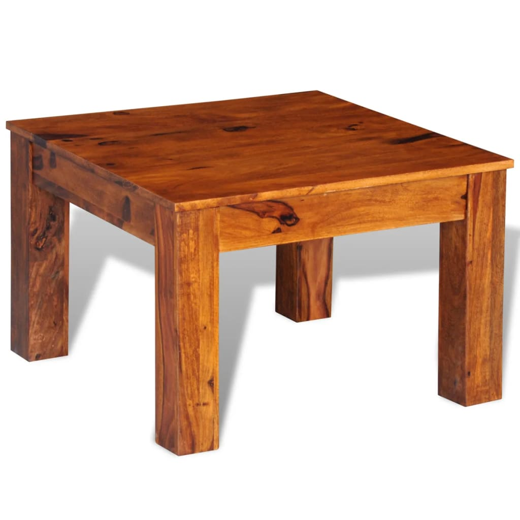 Sheesham solid wood coffee table 60 x 60 x for Petite table basse de salon