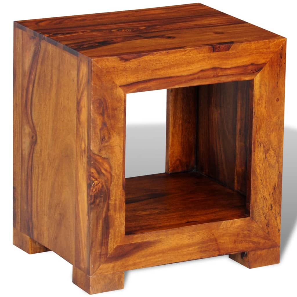 Sheesham solid wood side table 37 x 29 x 40 cm for Wood side table