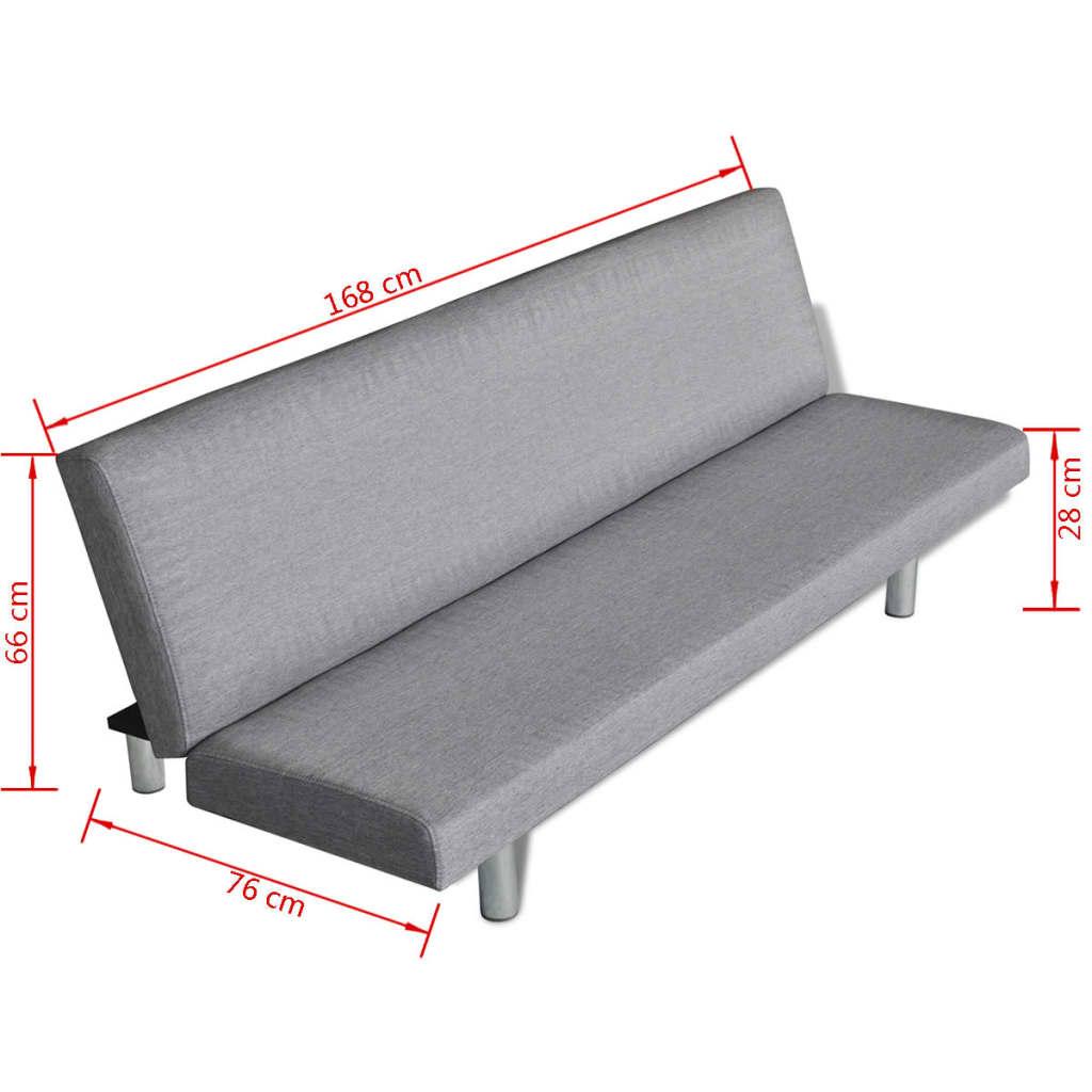 vidaXL-Sofa-Cama-Salon-Oficina-Mueble-Sofa-Lounge-Cama-Asiento-Banco-Gris-Claro
