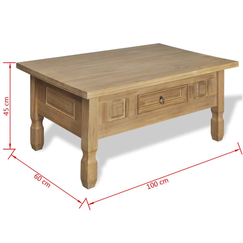 la boutique en ligne table basse en pin avec tiroir mexico. Black Bedroom Furniture Sets. Home Design Ideas