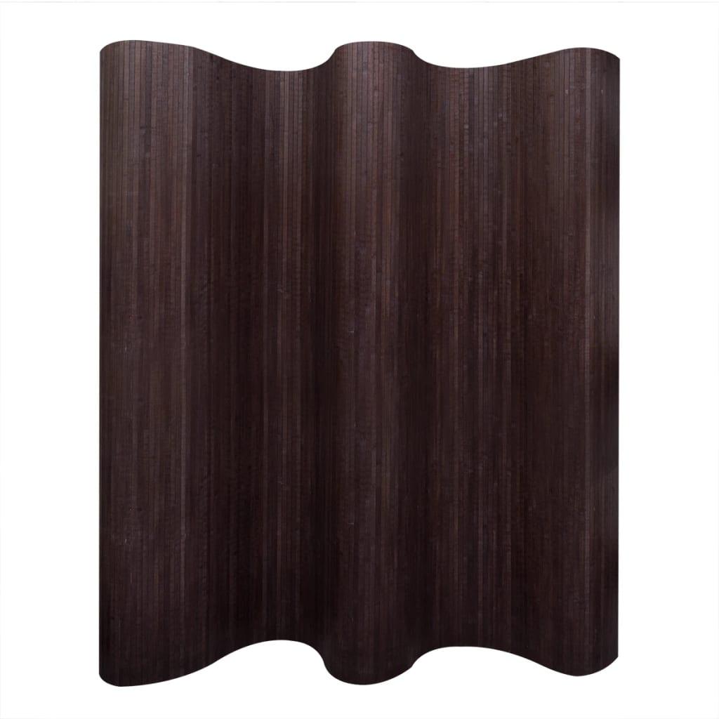 vidaXL sötétbarna bambusz paraván 250 x 195 cm