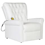White Electric Artificial Leather Recliner Massage Chair
